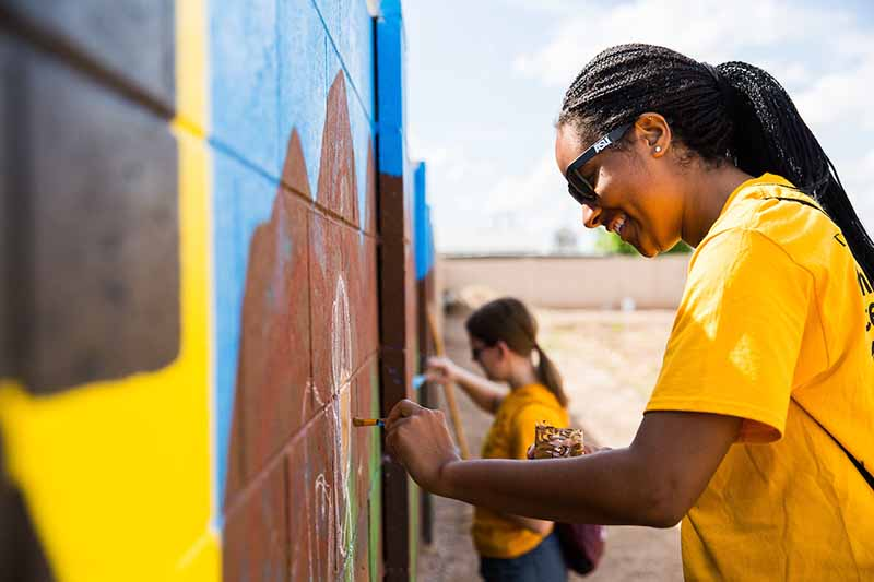 ASU student making a difference before graduating from college