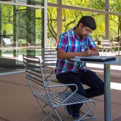 student studying for class in the summer session at ASU